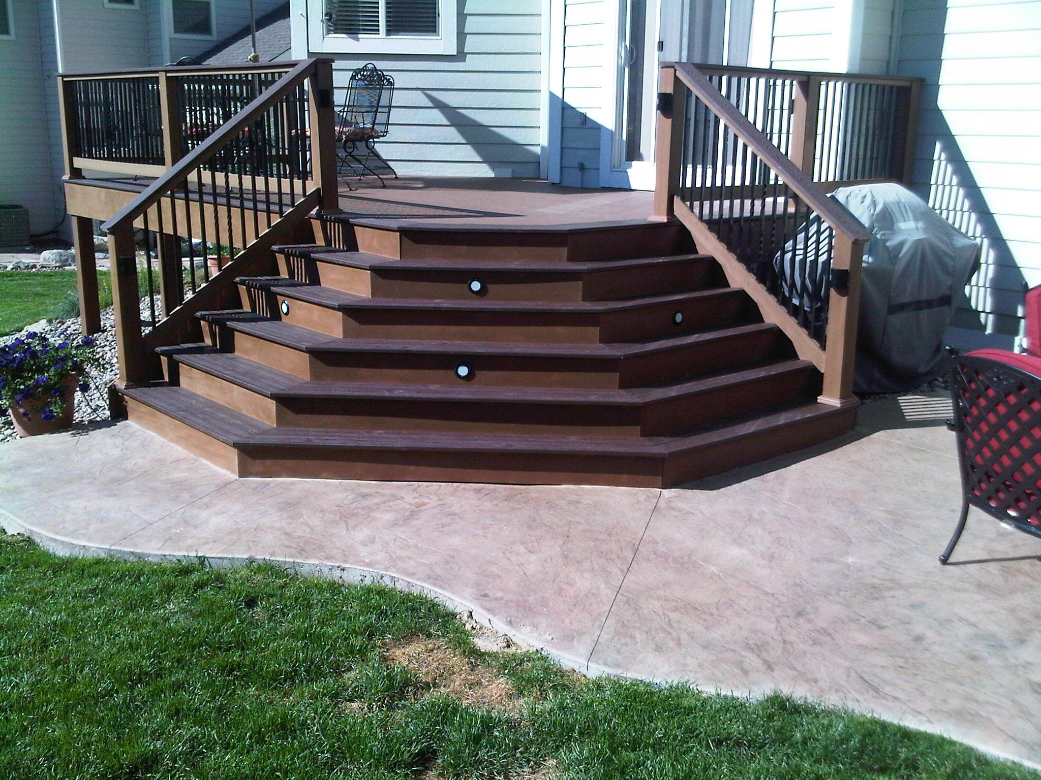 open style deck stair