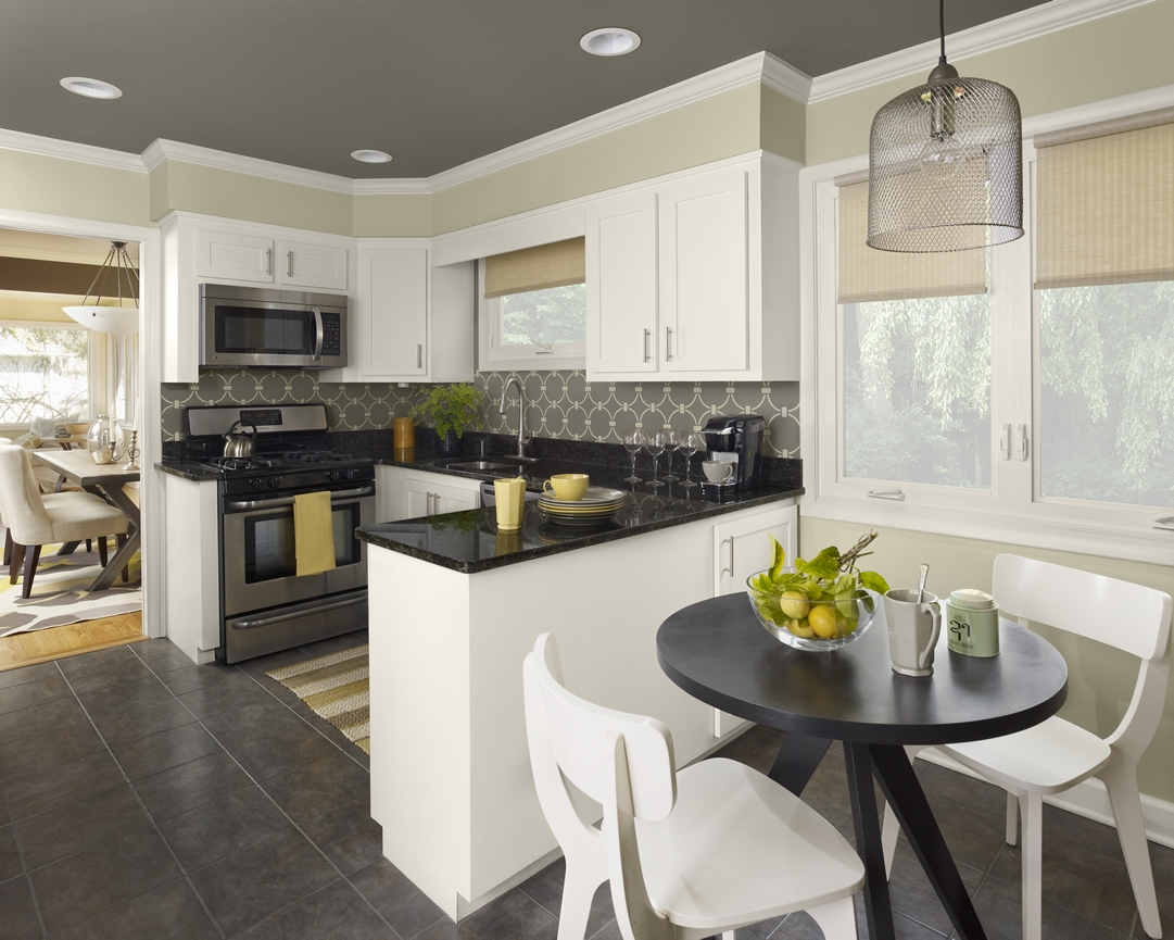 bold ceiling color for kitchen