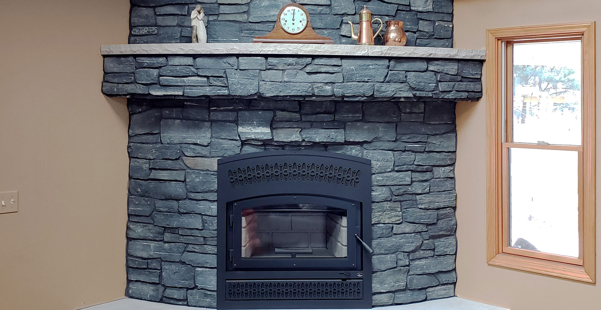 Stone Facade fireplace