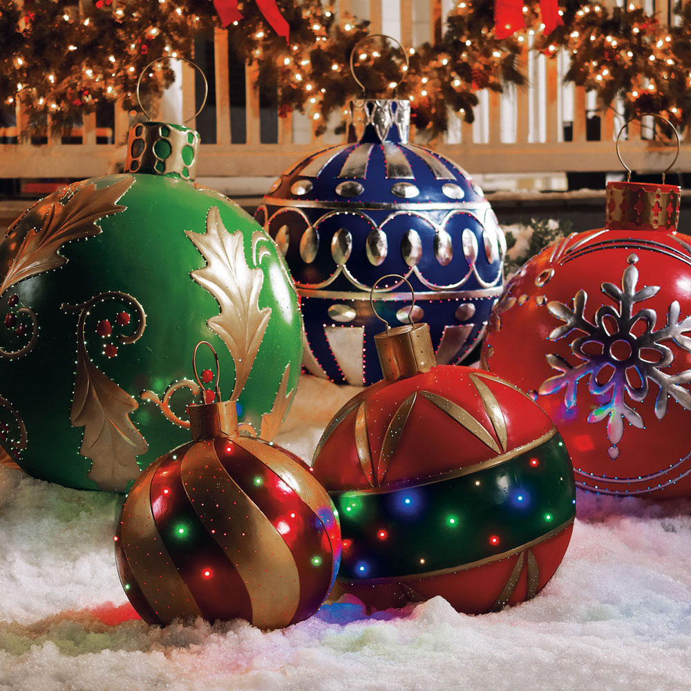 Festive Oversized Ornaments