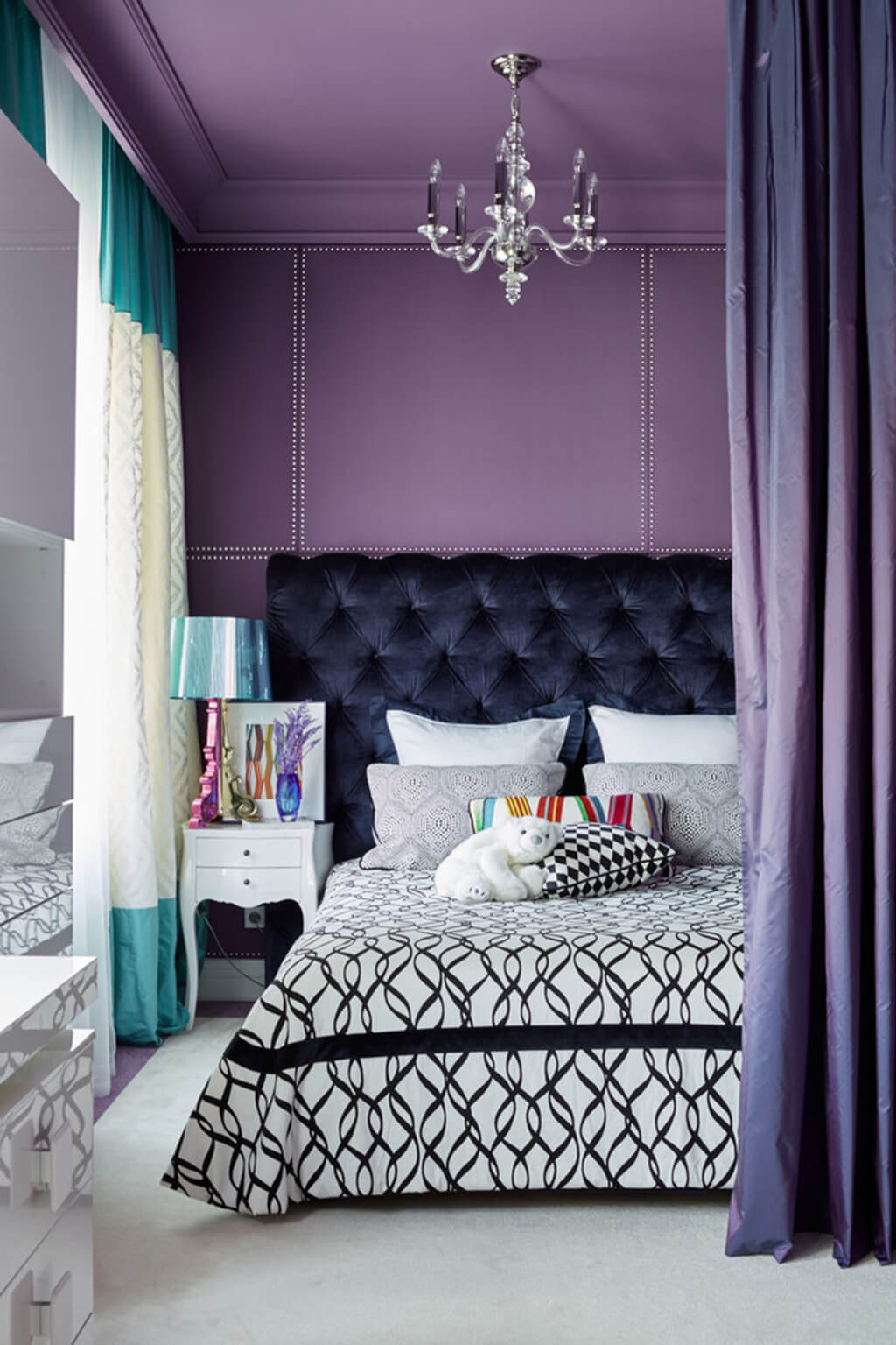 colors that go with purple