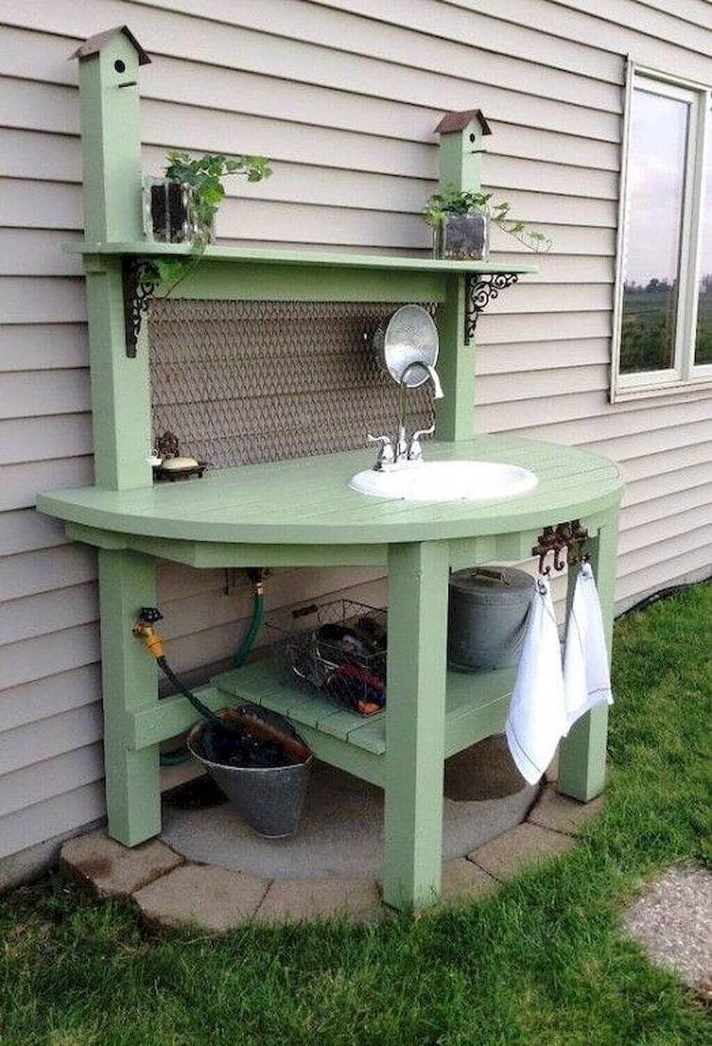 outdoor sink station ideas
