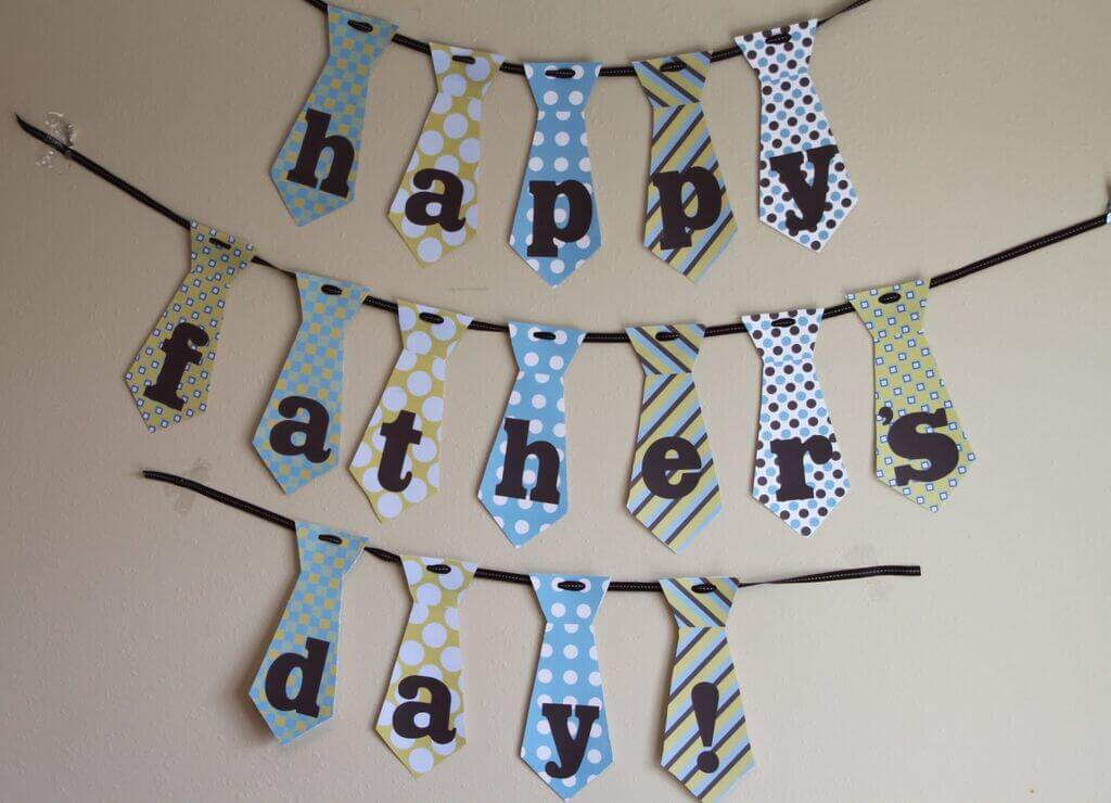 father's day craft ideas: paper Buntings