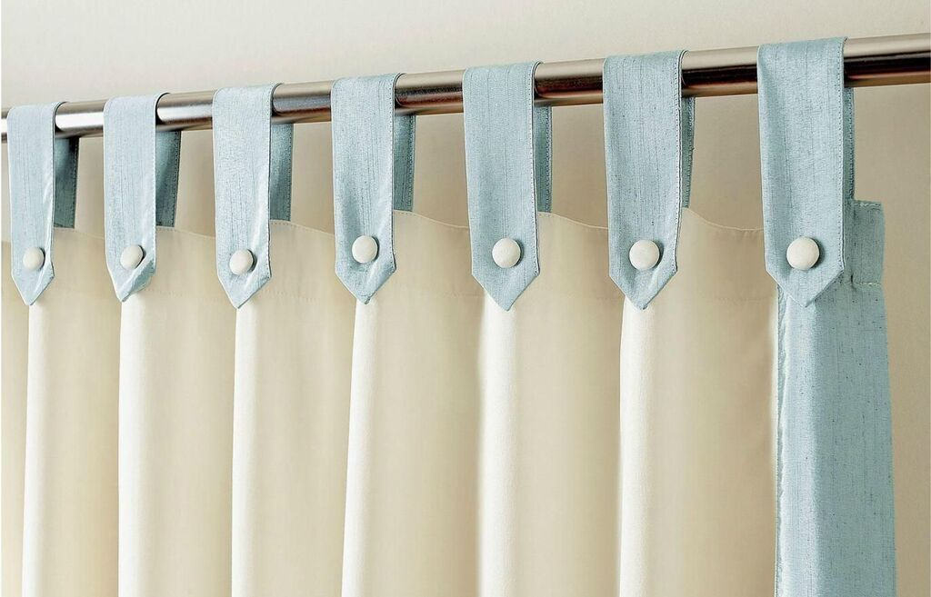 different style of curtains: Tie-Top Curtains