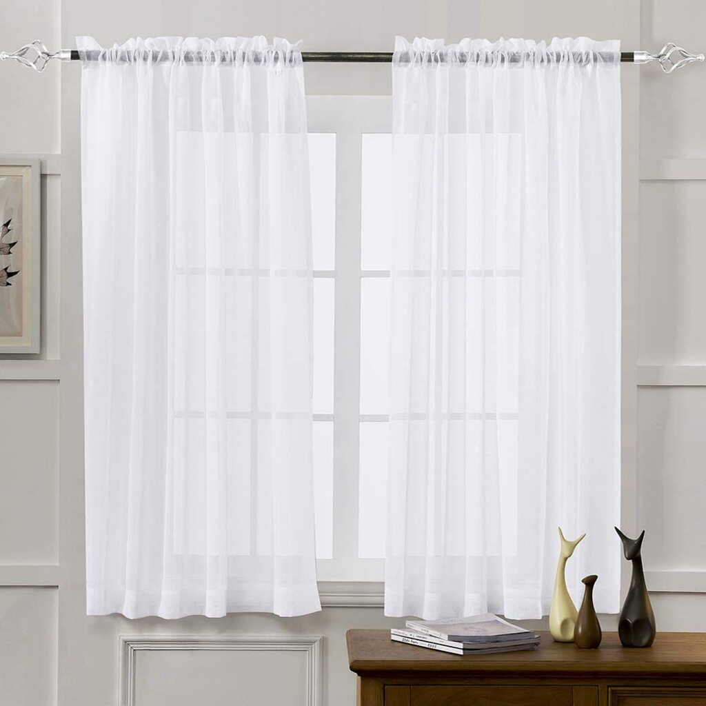different types of curtains: Sill curtains